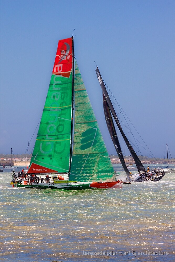 Volvo Ocean Race. Lisbon. Groupama and Abu Dhabi by terezadelpilar ~ art & architecture