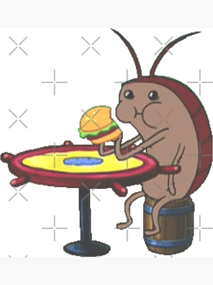 Cockroach eating krabby patty by Eversinceny