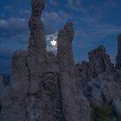 Moonshot, Right Between The Tufa's by photosbyflood