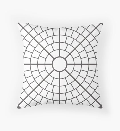 NDVH Circle One - white Throw Pillow