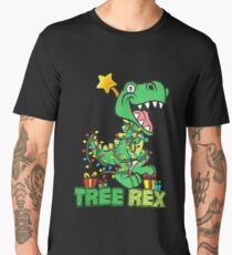 Tree Rex Dinosaur Christmas Design Men's Premium T-Shirt