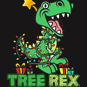 Tree Rex Dinosaur Christmas Design by jaygo