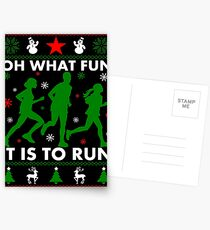 Oh What Fun It Is To Run Postcards