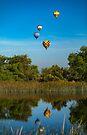 Temecula Balloon Festival Reflections Summer 2017 by photosbyflood