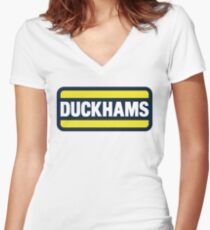 Duckhams Motor Oil Women's Fitted V-Neck T-Shirt
