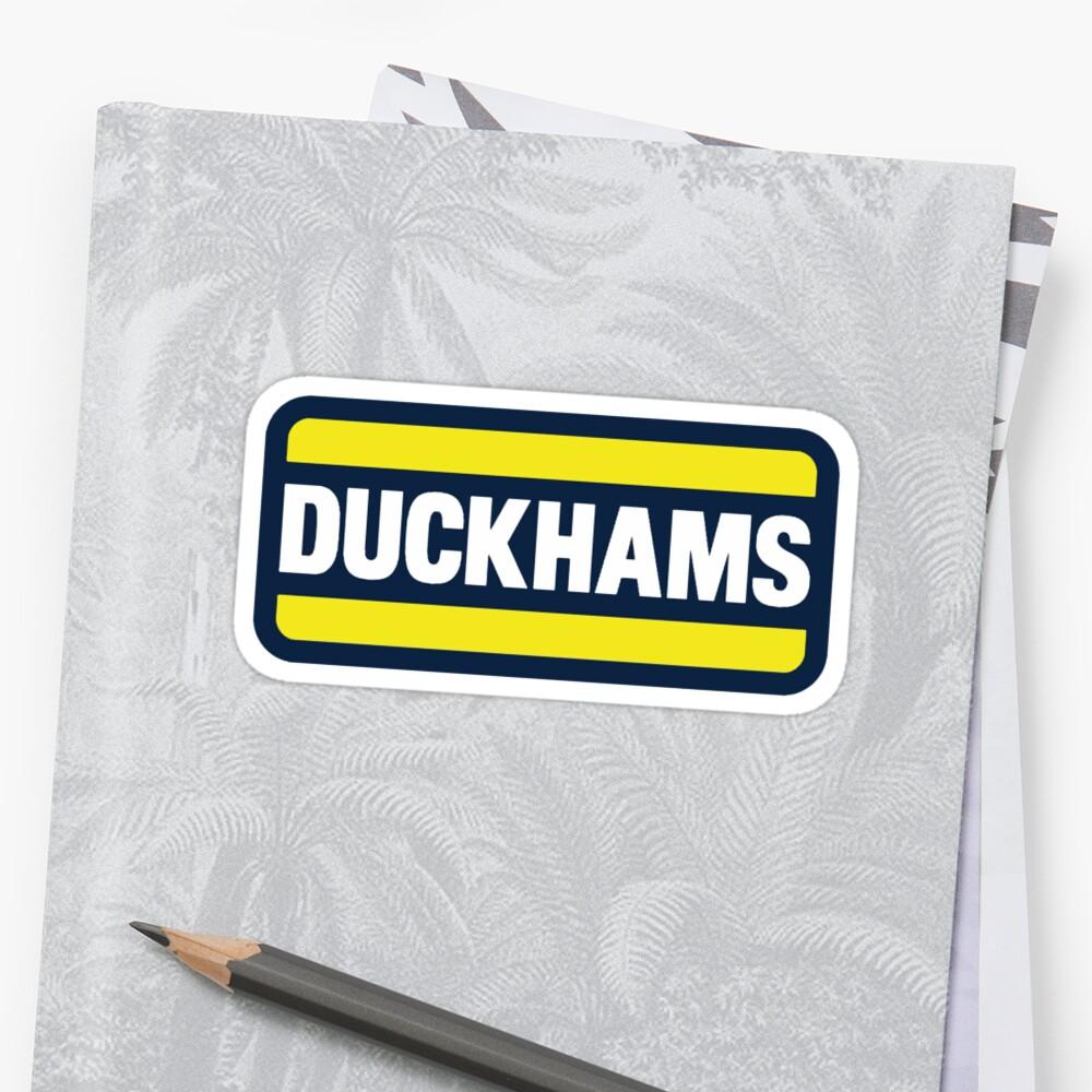Duckhams Motor Oil Sticker