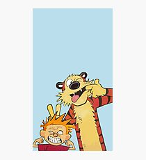 Calvin and Hobbes shirt  Photographic Print