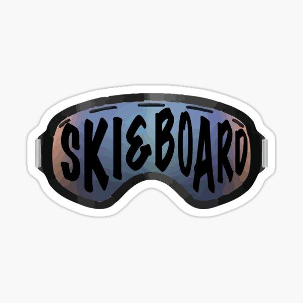 Ski and Board Sticker