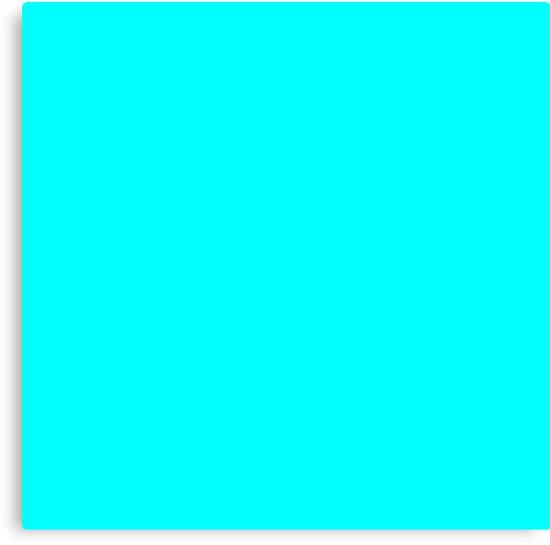 """""""Neon Aqua Blue Bright Electric Fluorescent Color"""" Canvas ..."""