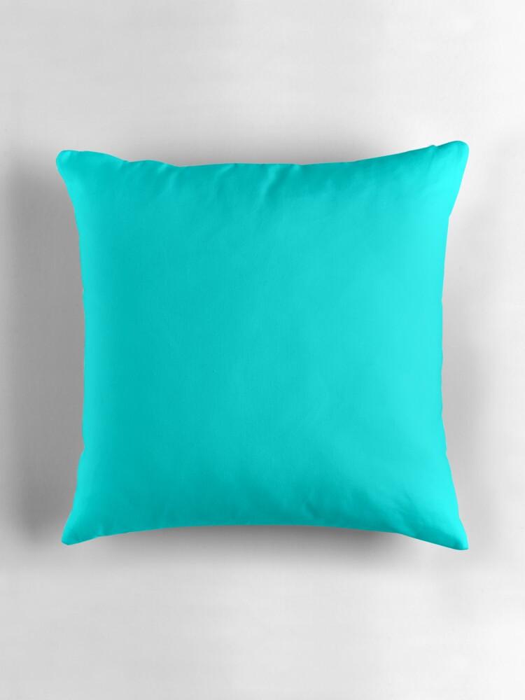 Neon aqua blue bright electric fluorescent color by podartist