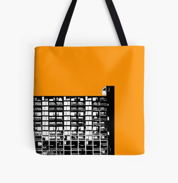 Facing the North -Orange All Over Print Tote Bag