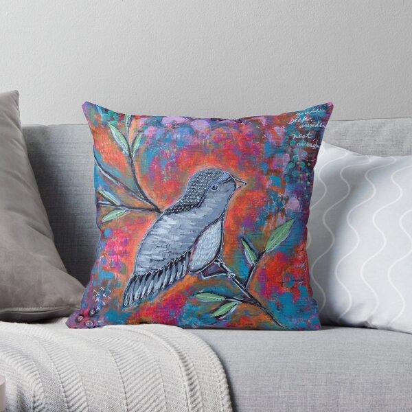 Bird Messages Throw Pillow