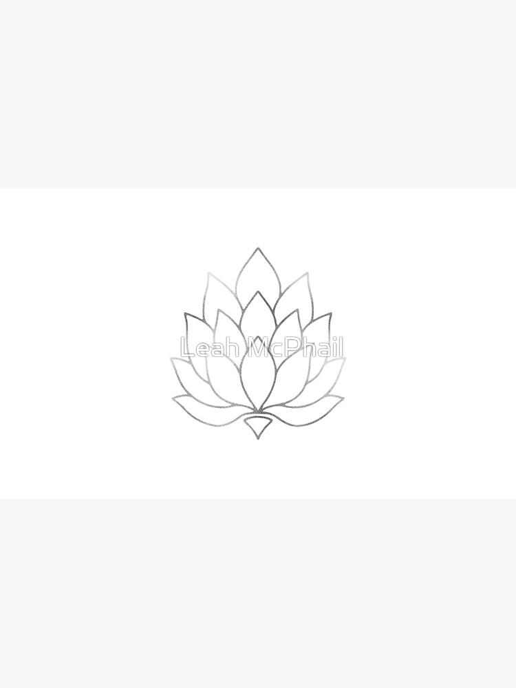 Silver Foil Lotus Flower by LeahMcPhail