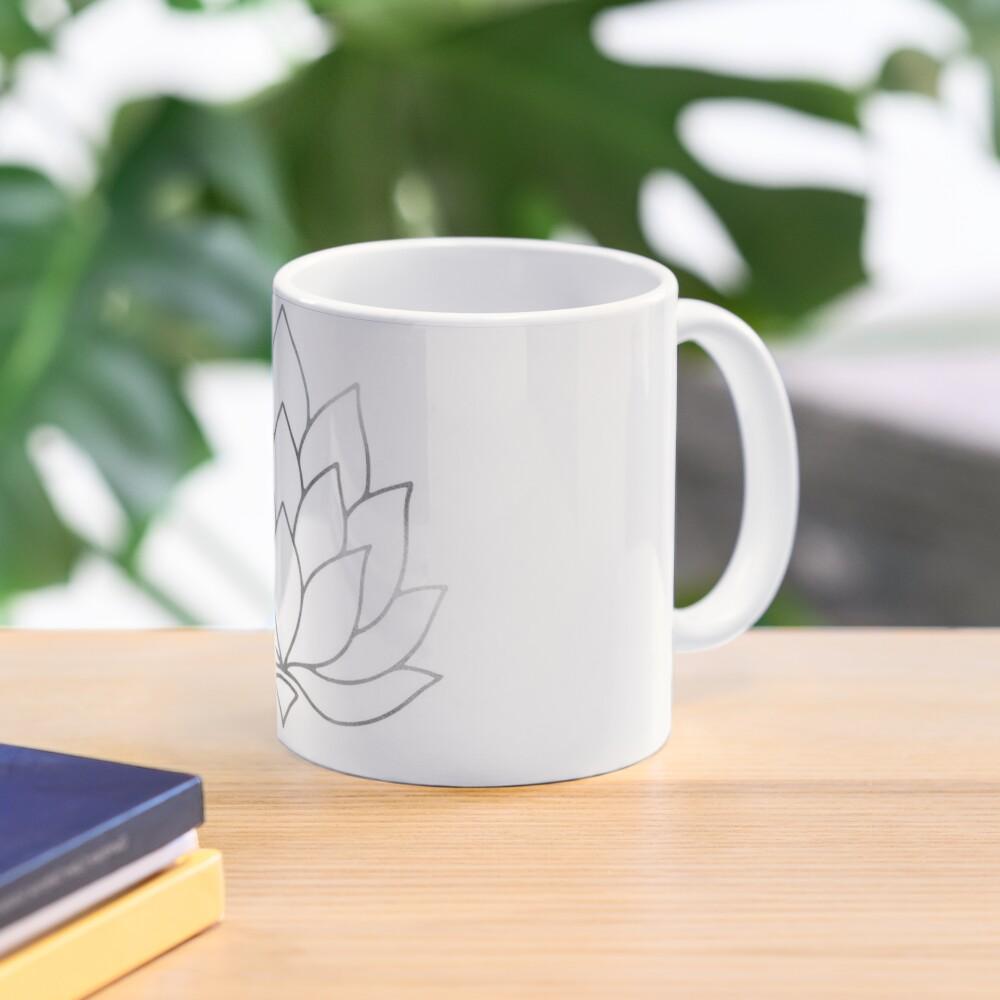 Silver Foil Lotus Flower Mug
