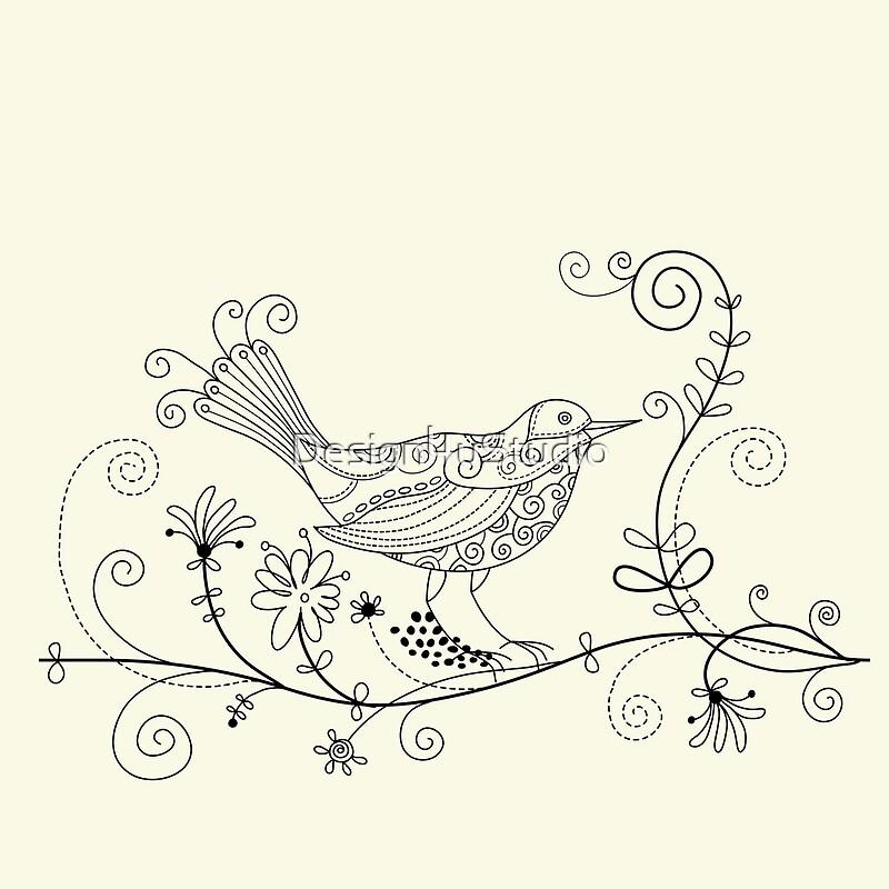 Русский орнамент картинки птицы черно-белые, любимой девушки