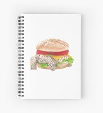Veggie burger Spiral Notebook