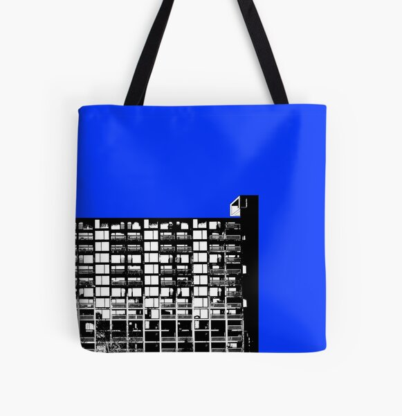 Facing the North -Blue All Over Print Tote Bag