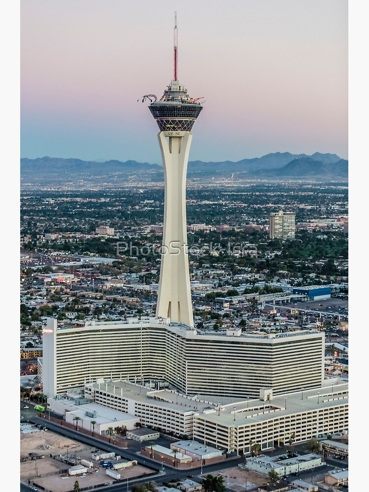 Aerial view of Stratosphere Casino Hotel and tower, Las Vegas, Nevada, USA by PhotoStock-Isra