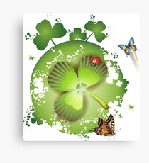 Clover - St Patricks Day Canvas Print