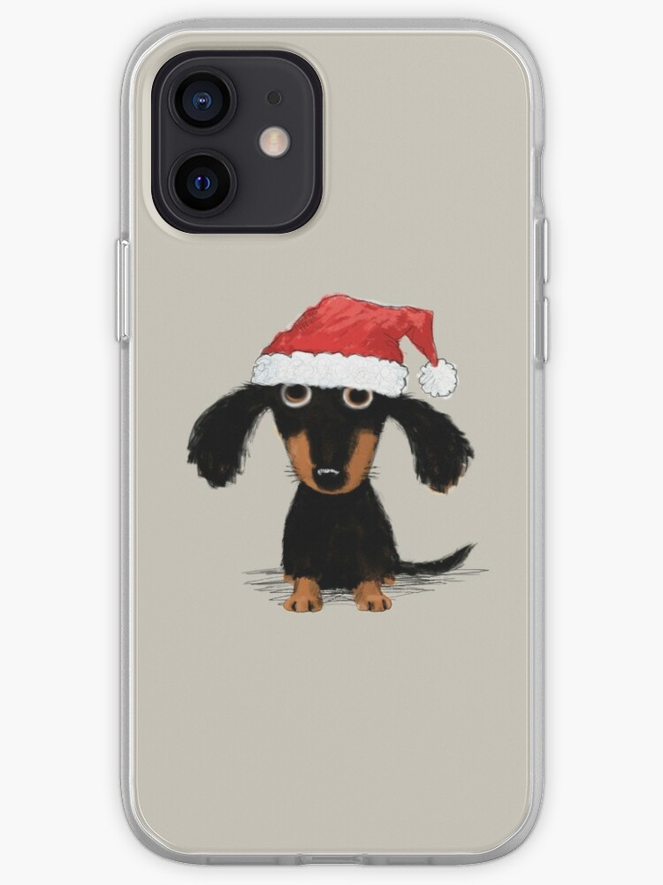 Doxie Clause Santa Dachshund | Funny Wiener Dog Christmas | iPhone Case & Cover