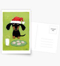Doxie Clause Santa Dachshund Postcards