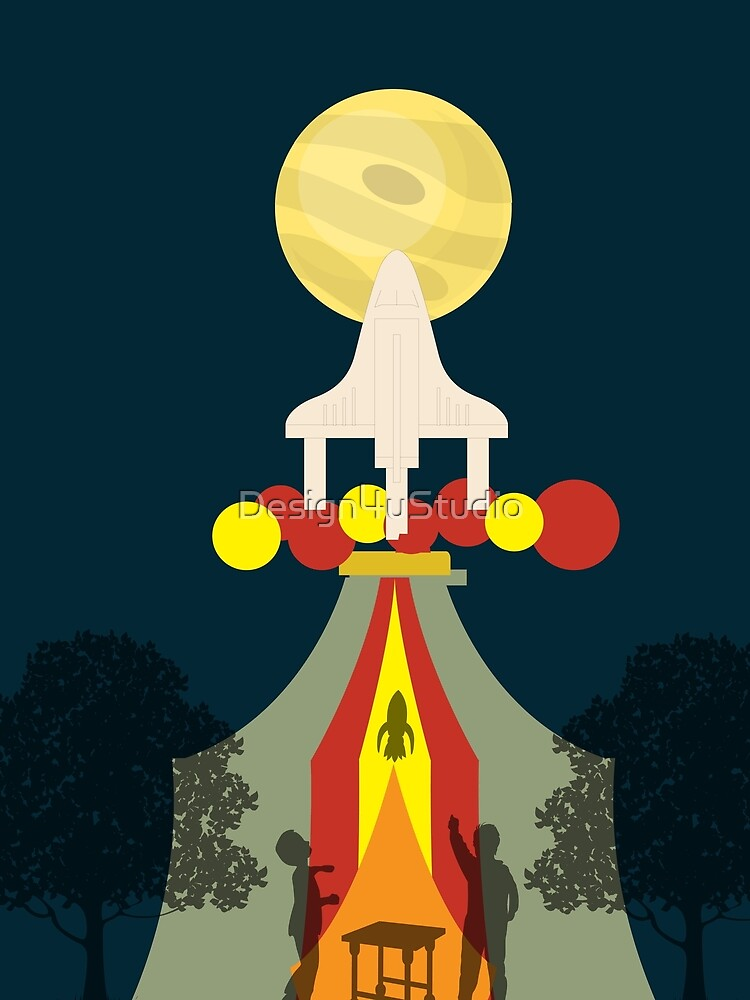 Space shuttle launch by Design4uStudio
