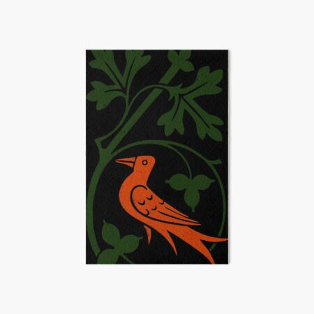 Woodcut birds Art Board Print
