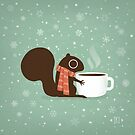 Squirrel Coffee Holiday by Jenn Inashvili
