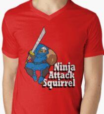 Ninja Attack Squirrel Mens V-Neck T-Shirt
