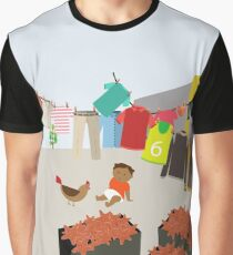 Courtyard in Colombia Graphic T-Shirt
