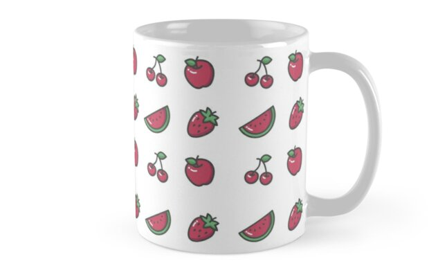Red Fruits Theme Pattern by Astral Prints
