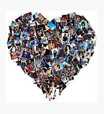 L.O.V.E MJJ Mosaic Heart Photographic Print
