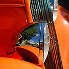 Custom Ford Motor Car Abstract in Bright Orange by John Kelly Photography (UK)