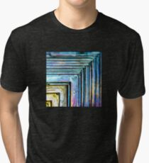 Abstract Bismuth Tri-blend T-Shirt