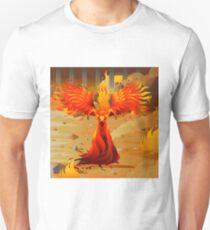 fire elemental fantasy winged creature on wastelands Unisex T-Shirt