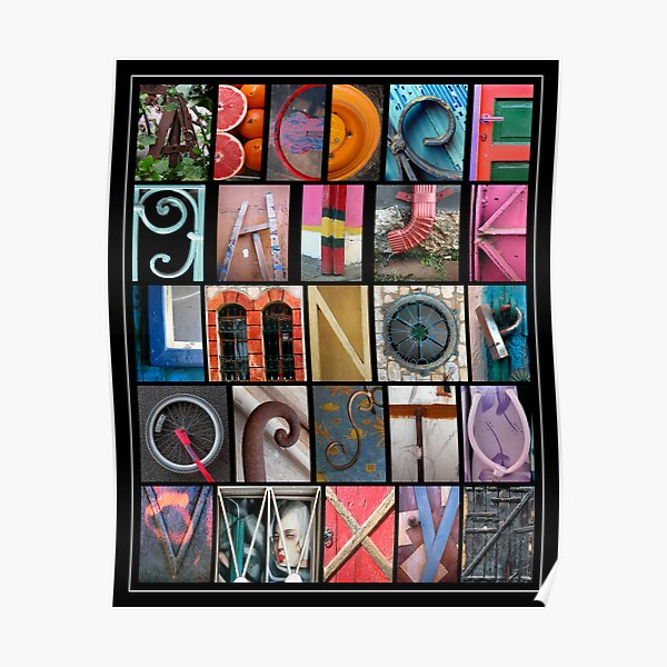 Coloured Alphabet Print Poster
