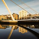 Gateshead Millennium Bridge Reflections by David Lewins
