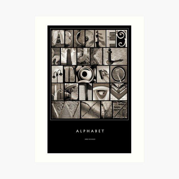 Alphabet Monochrome Poster Art Print