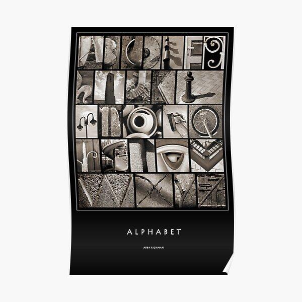 Alphabet Monochrome Poster Poster