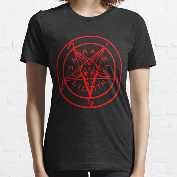 Inverted Pentagram with Sigil of Baphomet Goat Head Essential T-Shirt