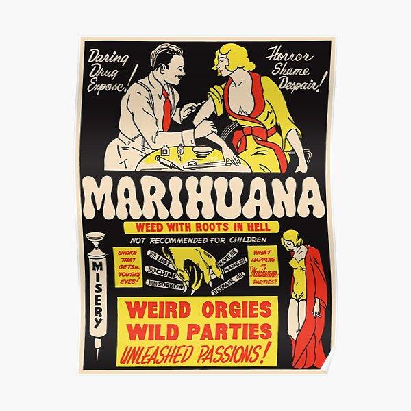 Weed avec des racines en enfer Poster