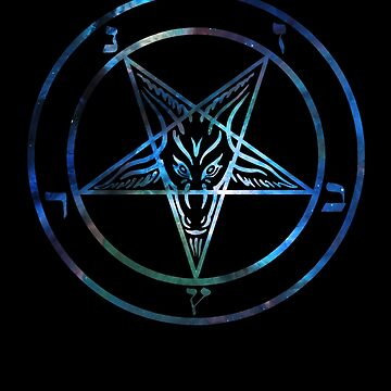Inverted Pentagram with Sigil of Baphomet Goat Head by JacknightW