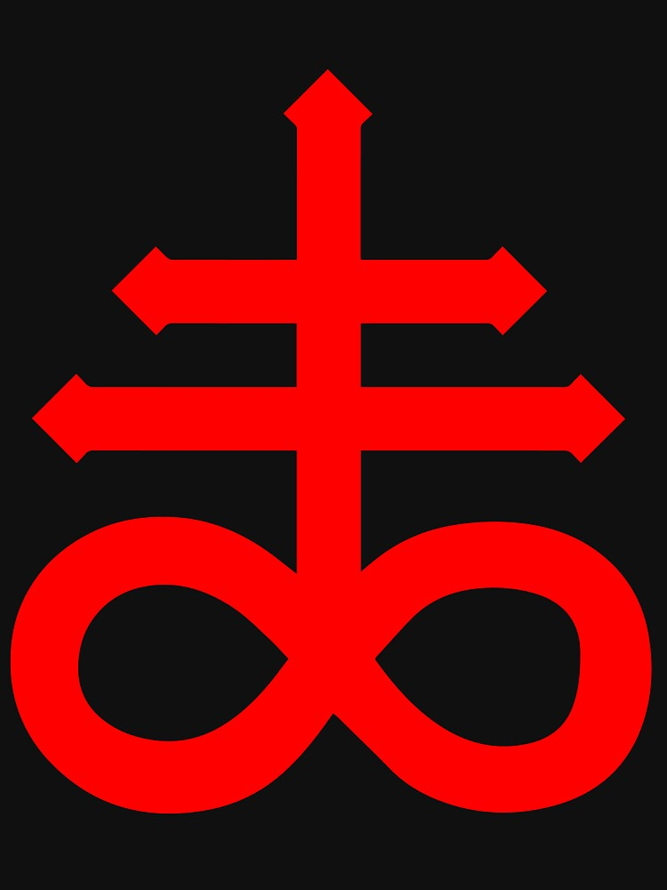 Satanic Cross Leviathans Cross Lightweight Hoodie By Jacknightw