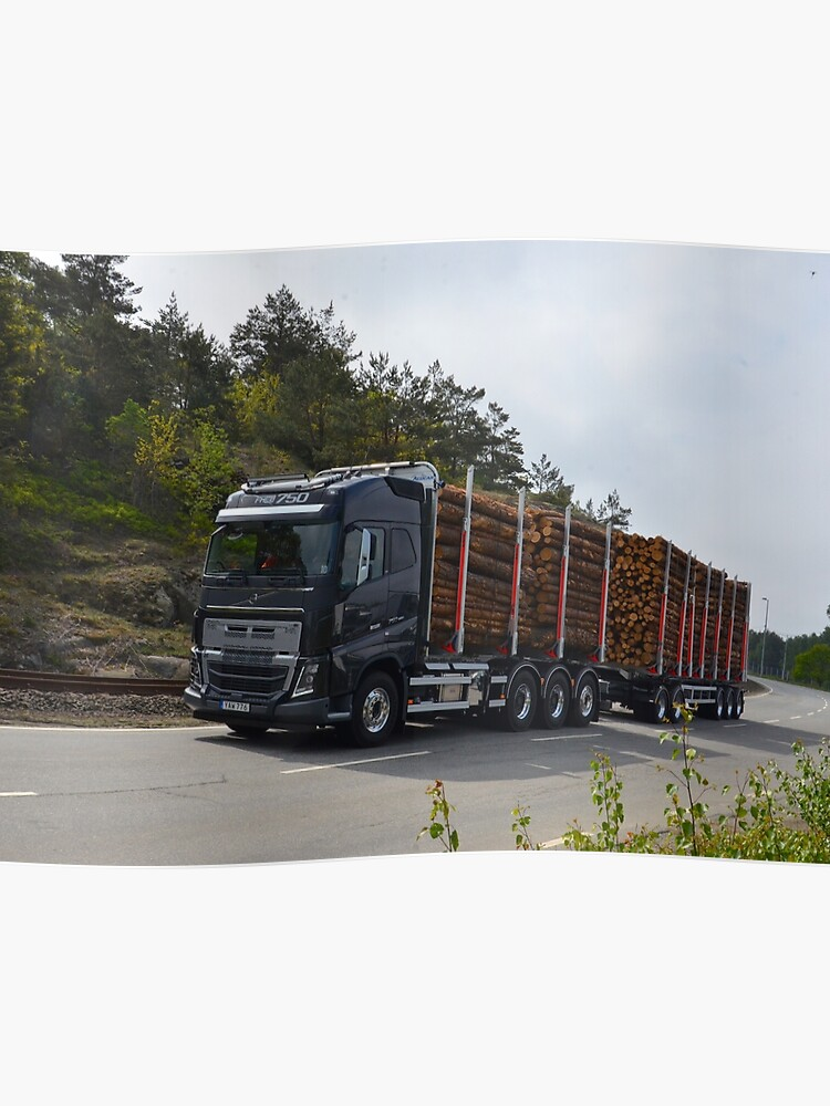 Construction Truck Volvo Fh16 750 Poster