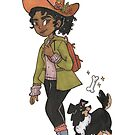 Hiking Witch Illustration by MangoDoodles