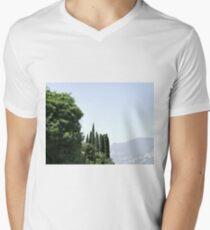 Italian cypress trees Men's V-Neck T-Shirt