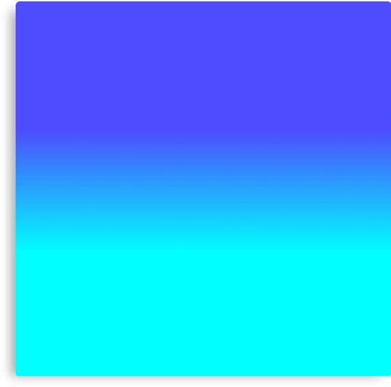 """Neon Blue and Bright Neon Aqua Ombré Shade Color Fade ..."