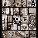 Alphabet Monochrome Print by Abba Richman