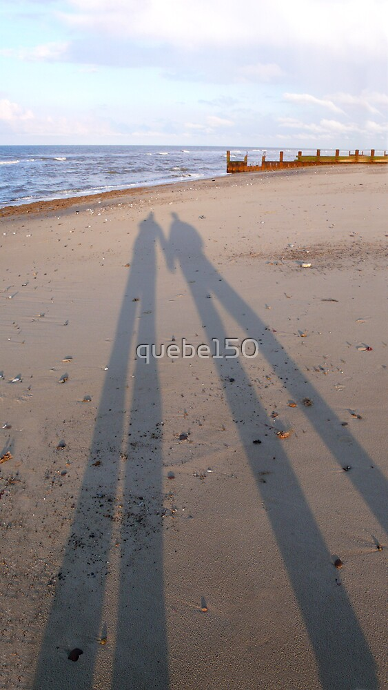 Us on the beach by quebe150
