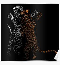 Playful Tiger Cubs Poster
